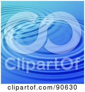 Royalty Free RF Clipart Illustration Of A Blue Rippling Water Background 1