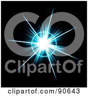 Royalty Free RF Clipart Illustration Of A Solar Burst Flare On Black 3