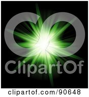 Royalty Free RF Clipart Illustration Of A Solar Burst Flare On Black 8
