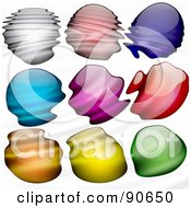 Royalty Free RF Clipart Illustration Of A Digital Collage Of Ripples Over Paint Drops