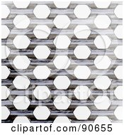 Royalty Free RF Clipart Illustration Of A Metal Grate Background Over White