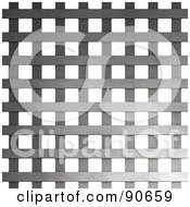 Royalty Free RF Clipart Illustration Of A Metal Weave Over White by Arena Creative