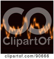 Royalty Free RF Clipart Illustration Of An Orange Equalizer Wave by Arena Creative