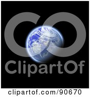 Royalty Free RF Clipart Illustration Of The Earth In 3d Over Black