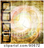 Royalty Free RF Clipart Illustration Of A Grungy Bright Whirlpool And Square Template