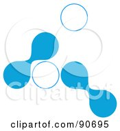 Royalty Free RF Clipart Illustration Of Blue And White Cells On White by Arena Creative
