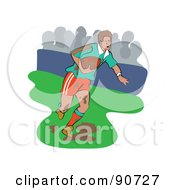 Royalty Free RF Clipart Illustration Of A Muddy Rugby Football Player Version 3 by Prawny