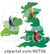 Royalty Free RF Clipart Illustration Of A Successful Business Team On A Map Of The UK