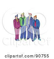 Royalty Free RF Clipart Illustration Of A Male Business Team
