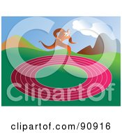 Royalty Free RF Clipart Illustration Of A Businessman Running In Circles On A Track by Prawny
