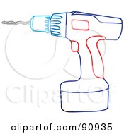 Blue And Red Power Drill