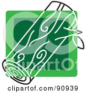 Royalty Free RF Clipart Illustration Of A Green Log App Icon