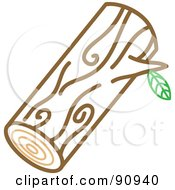 Royalty Free RF Clipart Illustration Of A Round Tree Log