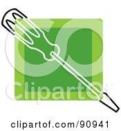 Green Screwdriver App Icon