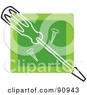 Green Screwdriver And Screws App Icon