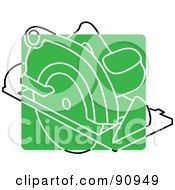Green Circular Saw App Icon