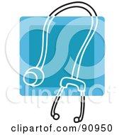 Blue Stethoscope App Icon