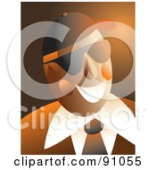 Royalty Free RF Clipart Illustration Of An Orange Businessman Wearing Shades And Smiling