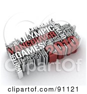 Royalty Free RF Clipart Illustration Of A 3d Collage Of Vancouver Olypmic Games Words by MacX