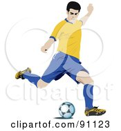 Royalty Free RF Clipart Illustration Of An Athletic Male Soccer Player 1 by leonid