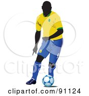 Royalty Free RF Clipart Illustration Of An Athletic Male Soccer Player 4 by leonid