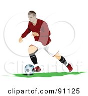 Royalty Free RF Clipart Illustration Of An Athletic Male Soccer Player 6 by leonid