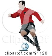 Royalty Free RF Clipart Illustration Of An Athletic Male Soccer Player 3 by leonid