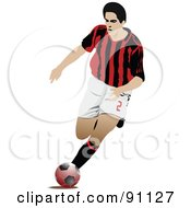 Royalty Free RF Clipart Illustration Of An Athletic Male Soccer Player 2 by leonid
