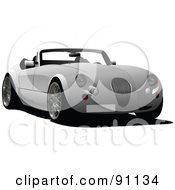 Royalty Free RF Clipart Illustration Of A Classy Gray Convertible Car