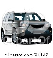 Royalty Free RF Clipart Illustration Of A Gray SUV
