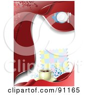 Royalty Free RF Clipart Illustration Of A Blank Red Menu Template With Coffee