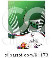 Royalty Free RF Clipart Illustration Of A Green Casino Background 1