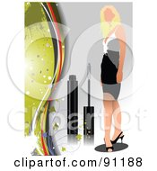 Royalty Free RF Clipart Illustration Of A Faceless Woman In A Dress With Mascara