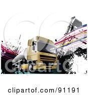 Urban Grunge Cargo Truck Background by leonid