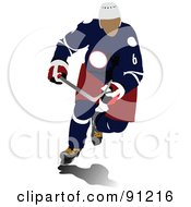 Royalty Free RF Clipart Illustration Of A Male Ice Hockey Player 2