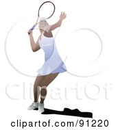 Royalty Free RF Clipart Illustration Of A Female Tennis Player