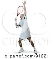 Royalty Free RF Clipart Illustration Of A Male Tennis Player by leonid