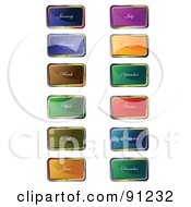 Royalty Free RF Clipart Illustration Of A Digital Collage Of Shiny Month App Icons