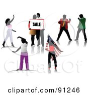 Royalty Free RF Clipart Illustration Of A Digital Collage Of Faceless People by leonid