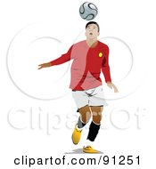 Royalty Free RF Clipart Illustration Of An Athletic Male Soccer Player 5 by leonid