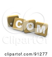 Royalty Free RF Clipart Illustration Of 3d Tan Blocks Spelling Dot Com by Jiri Moucka