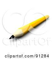Royalty Free RF Clipart Illustration Of A 3d Yellow Pencil With A Sharp Tip Pointing Front by Jiri Moucka
