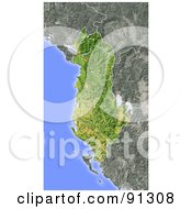 Royalty Free RF Clipart Illustration Of A Shaded Relief Map Of Albania