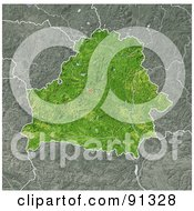 Royalty Free RF Clipart Illustration Of A Shaded Relief Map Of Belarus
