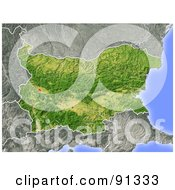 Royalty Free RF Clipart Illustration Of A Shaded Relief Map Of Bulgaria