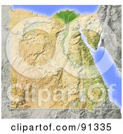 Shaded Relief Map Of Egypt