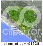 Royalty Free RF Clipart Illustration Of A Shaded Relief Map Of Bosnia And Herzegovina