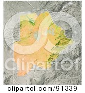 Royalty Free RF Clipart Illustration Of A Shaded Relief Map Of Botswana