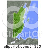 Royalty Free RF Clipart Illustration Of A Shaded Relief Map Of Belize