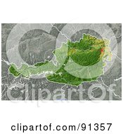 Royalty Free RF Clipart Illustration Of A Shaded Relief Map Of Austria